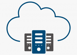 a cloud and three databases